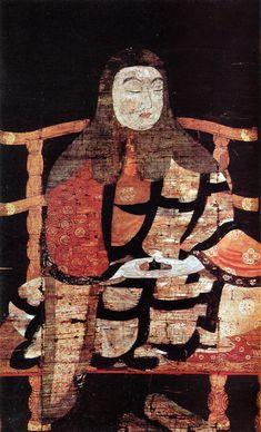 Portrait of Saicho (National Treasure of Japan),he was founder of Tendai Tantric Buddhism,平安時代,一乗寺所蔵の国宝天台高僧像10幅のうちのひとつ,11世紀,Heian Period (11c)