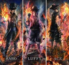 Sabo, Luffy, and Ace