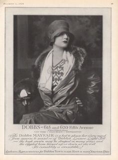 kittyinva: Kittyinva: December, 1926 ad for Dobb's women's... | Art Deco | Bloglovin'
