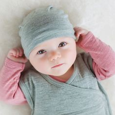 Raspberry Long Sleeve Top, Mint Hat and Sleep Bag