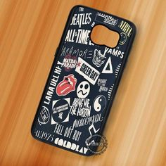 Bands Collage  Fall Out Boy - Samsung Galaxy S7 S6 S5 Note 7 Cases & Covers