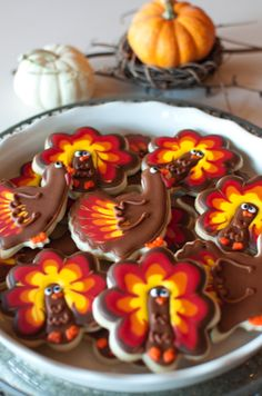 Thanksgiving Turkey Cookies from @Bird Bakery #Gobble