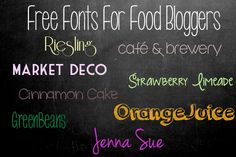fonts food - Buscar con Google