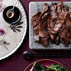 Korean sizzling beef Barbecue Recipes, Grilling Recipes, Meat Recipes, Wine Recipes, Asian Recipes, Cooking Recipes, Asian Foods, Raclette Recipes, Oriental Recipes