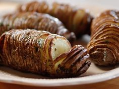 Hasselback potatoes. Very good. Didn't add the chives.