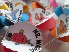 Mr. Men  Vintage Inspired Paper Garland by futtatinni on Etsy