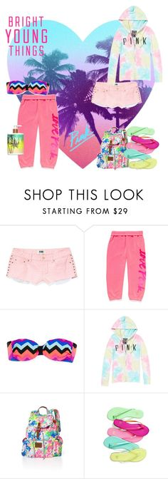 """Bright Young Things"" by mdgrrrl ❤ liked on Polyvore featuring Victoria's Secret PINK, Victoria's Secret, victoria's secret and pink"