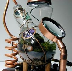 mini terrarium with solar-powered LED light and magnifying lens was invented by Tim Witteveen.