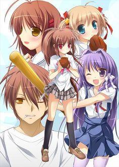 Crossover! Baseball fans from Clannad & Little Busters!