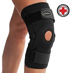 Doctor Developed Premium Copper Lined Knee Support Brace AND DOCTOR WRITTEN HANDBOOK GUARANTEED RELIEF & SUPPORT for Knee Injuries and Other Knee Conditions