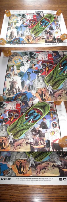 Posters 58127: Vintage 1987 Powell Peralta Vallely Skateboard Bookcover Poster Old School Og BUY IT NOW ONLY: $30.0