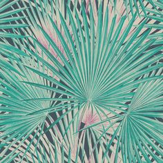 Palm Leaves Emerald wallpaper by Albany