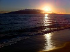 Sunset behind #Lanai from Lahaina, #Maui.  #MauiMoment