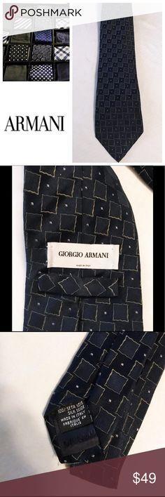 Giorgio Armani tie Stunning Giorgio Armani tie. Subtle but striking pattern in blues and grays. In excellent condition. All reasonable offers welcome. Giorgio Armani Accessories Ties