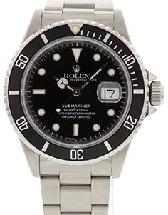 Men's Certified Pre-Owned Watches - Rolex Submariner automaticselfwind mens Watch 16610 Certified Preowned ** To view further for this item, visit the image link. (This is an Amazon affiliate link)