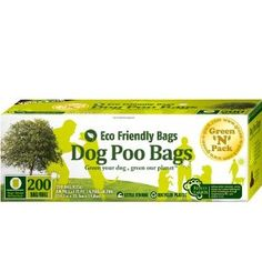 Green N Pack Eco Friendly 200-Count Green Dog Waste Bags, Pet Waste Litter Bags