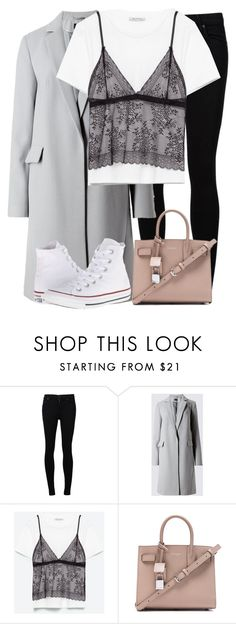 """""""OOTD 12/02/17: Seeing Jack Whitehall"""" by elenaday on Polyvore featuring Citizens of Humanity, Yves Saint Laurent and Converse"""