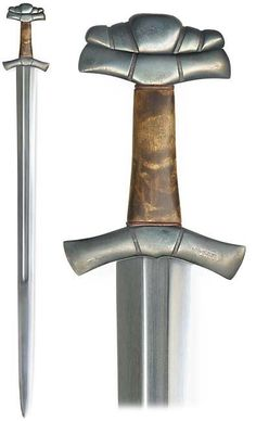 """A reconstruction of z-type iron age sword, cross and pommel after a sword found from Vesilahti[, Finland.]"" kp-art.fi"