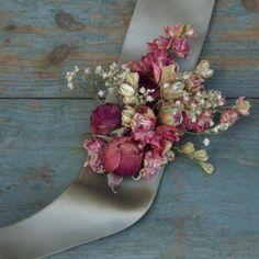 English Rose Garden Wrist Corsage