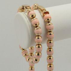 Avon Pink Goldtone Necklace Bracelet 1980s Vtg. $27.00, via Etsy.