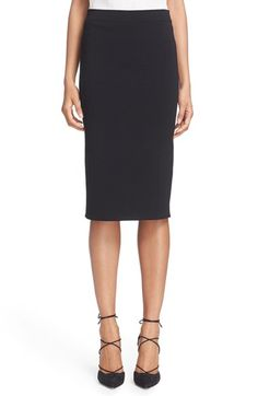 OSCAR DE LA RENTA Knit Pencil Skirt. #oscardelarenta #cloth #