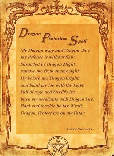 Wiccan Book of Shadows Protection Spell Wiccan Spell Book, Witch Spell, Magick Spells, Wicca Witchcraft, Fantasy Dragon, Dragon Art, Dragons, Protection Spells, Book Of Shadows
