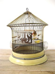 Your place to buy and sell all things handmade Antique Bird Cages, Old Scales, Birdcages, Wire Mesh, Pretty Birds, Bird Houses, Gazebo, Tray, Porcelain