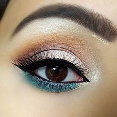 Makeup look using: #esqido False Lashes in Peace & Love, #morphe Jaclyn Hill Palette, #katvond tattoo eyeliner Use code 'shangj' to get 15% on esqido.com. ---------------------------------------------------- morphe x Jaclyn Hill Palette eye look | summer makeup look | spring makeup look | teal eyeliner | winged eyeliner | #eotd