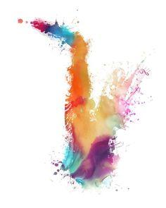 Colored saxophone - JBJart