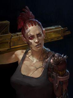 Female Warrior - Necromunda - Warhammer 40K - GW