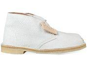 Witte Clarks Originals boots Desert Boot enkelaarsjes