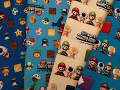 Hey, I found this really awesome Etsy listing at https://www.etsy.com/listing/192392725/super-mario-fabric-small-set-4-of-98