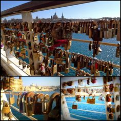 #love #locks #tigne #point #Sliema #bridge #view #Valletta