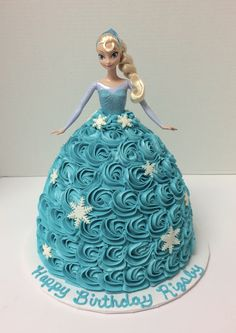 Elsa Doll Cake Elsa Birthday Party, Frozen Birthday Cake, 4th Birthday Cakes, Barbie Birthday, Frozen Party, Frozen Doll Cake, Elsa Doll Cake, Torta Panda, Elsa Torte
