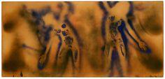 Ives Klein - Peinture feu couleur sans titre (FC 1), 1962, 141 x 300 cm.