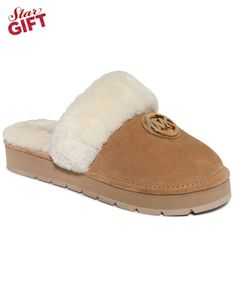 Women's love this life ... Embroidered Faux Fur Slippers DRuYvDyZO1