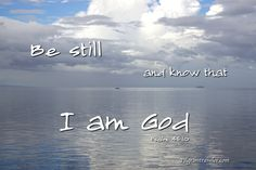 Psalm 46:10 Be still, and know that I am God; I will be exalted among the nations, I will be exalted in the earth! http://www.pilgrimtraveler.com/