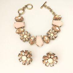 Punk style  #jewelry #bracelet #earrings #pink