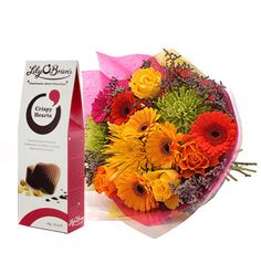 Vivid Bouquet with FREE Chocolates - £32.99