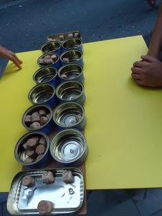 Juegos de mesa con materiales reciclados: Mancala.