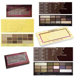 MAKEUP REVOLUTION I Heart Makeup Chocolate Eye Shadow Palettes Too Faced Dupe