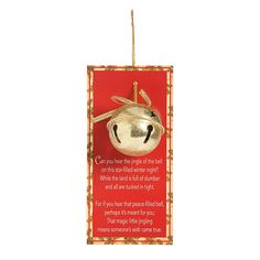 Give a little love this season with the help of this Legend of the Jingle Bell Christmas ornament. Each 2 metal jingle bell ornament is attached to a 3 x . Small Christmas Gifts, Christmas Poems, Christmas Bells, Christmas Pictures, Christmas Traditions, Christmas Holidays, Christmas Wreaths, Christmas Crafts, Christmas Tree