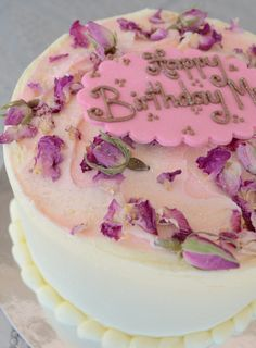Rose mousse layer cake