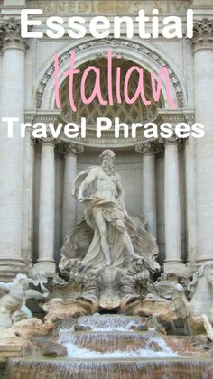 Essential phrases to learn before visiting Italy. Best Italia travel phrases.