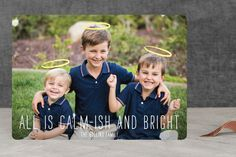 Calm-ish   Bright Holiday Photo Cards by Lizzy McGinn at minted.com