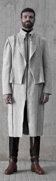 Mens coat by Etxeberria  #CoatCrush
