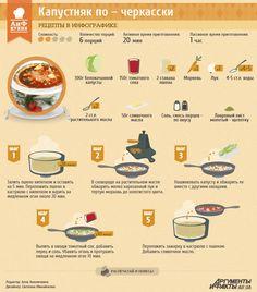 Рецепты в инфографике: Черкасский капустняк | Рецепты в инфографике | Кухня | АиФ Украина