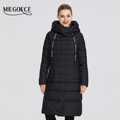 Miegofce 2019 New Winter Women s Collection Of Coat Knee-Length Windproof Winter Coats Women, Coats For Women, Jackets For Women, Fur Collar Jacket, Womens Clothing Stores, Jacket Style, Women's Coats, Collection, Parka
