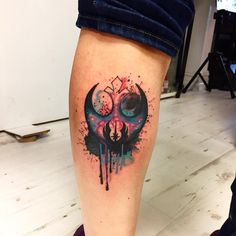 Perfect watercolor tattoo style of logo Star Wars Rebel, done by artist Tom Dyso… Perfekte Aquarell-Tattoo-Stil des Logos Star Wars Rebel, von Künstler Tom Dyson Art getan Finger Tattoos, Wolf Tattoos, Star Tattoos, Body Art Tattoos, Sleeve Tattoos, Small Tattoos With Meaning, Cute Small Tattoos, Tattoos For Women Small, Trendy Tattoos