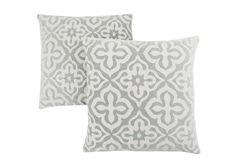 Pillow - / Light Grey Motif Design / Bring an instant update to your home d?cor with this set of 2 stylish square accent pillows in a contemporary geometric design. The trendy two-tone light grey and white motif brings pizzazz to a cozy ch Modern Throw Pillows, Large Pillows, Throw Pillow Sets, Decorative Throw Pillows, Accent Pillows, Machine Wash Pillows, Cozy Chair, Pillow Arrangement, Flower Pillow
